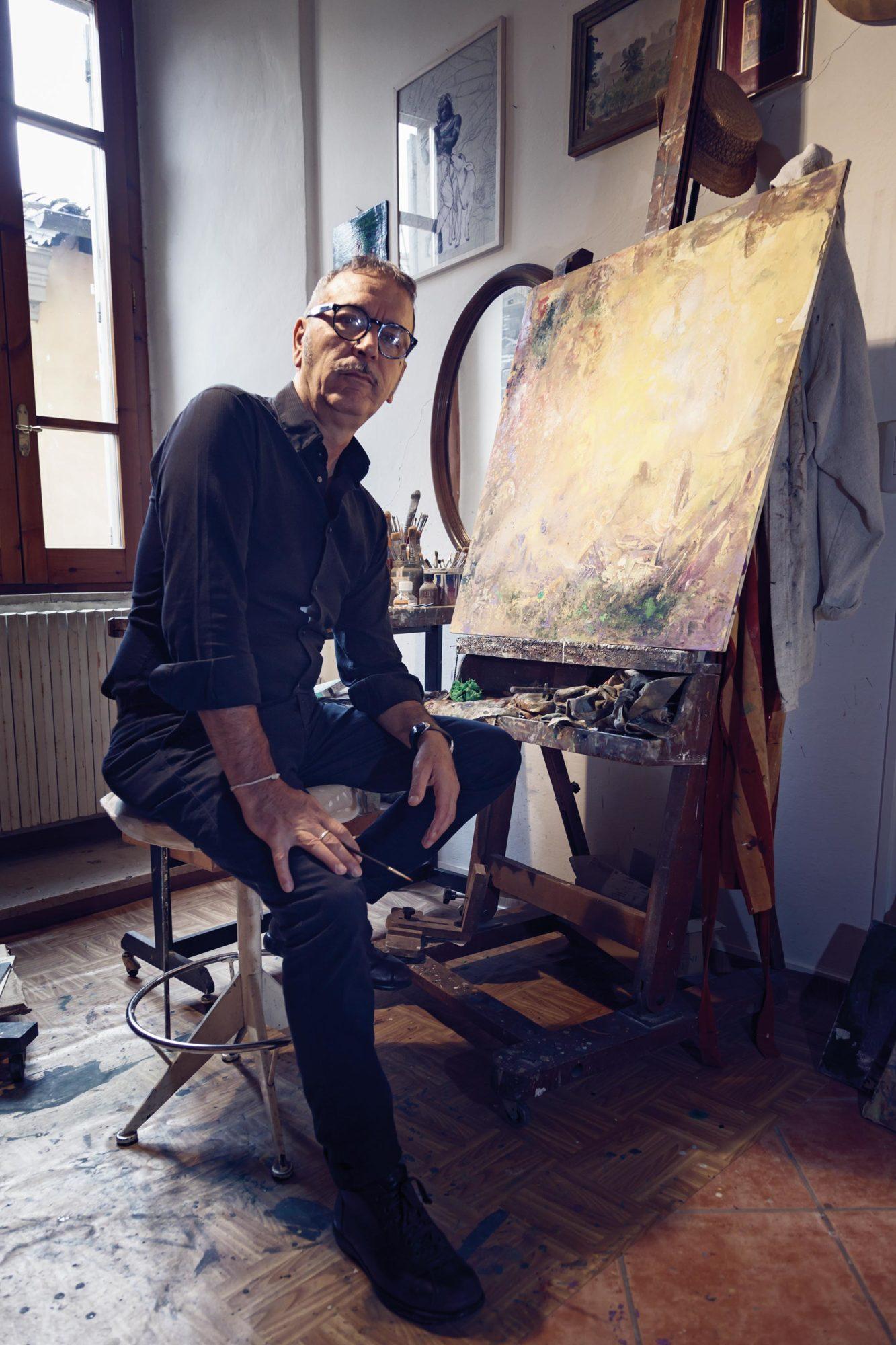Giampaolo Tomassetti - ritratto con quadro